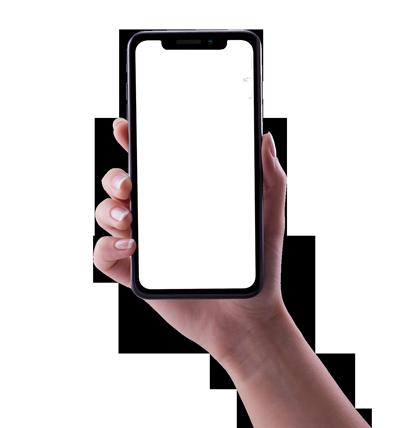 Айфон в руке png