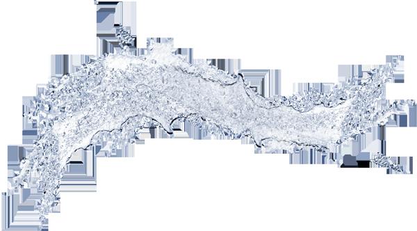 струя воды на прозрачном фоне