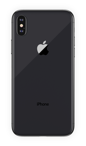 black iphohe x png