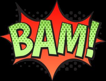 BAM! Шаблон взрыва в стиле комикс