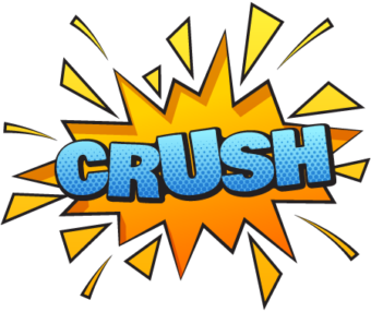 CRUSH надпись в стиле комикс взрыв