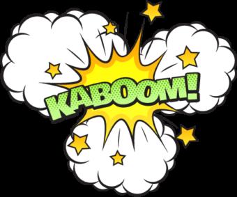 Облако KABOOM надпись в стиле комикс