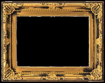 Багетная золотая рамка
