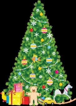 Новогодняя елка клипарт