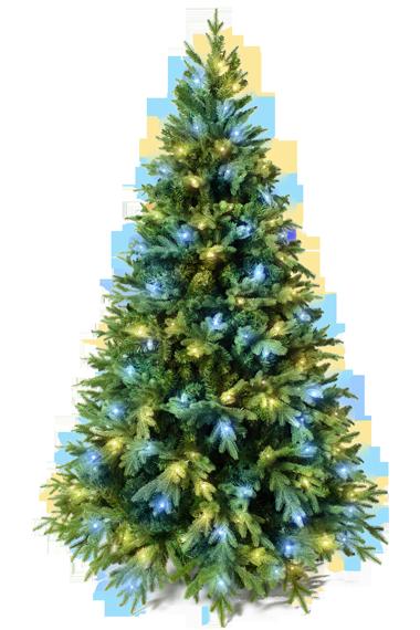 елка с гирляндами