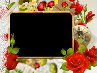 Рамка для фото из цветов