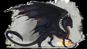 Черный огненный дракон