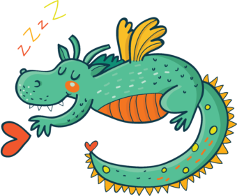 Рисунок спящий дракон
