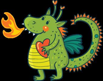 Детский рисунок дракона