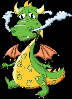 Зеленый дракон рисунок