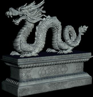 Статуя дракона