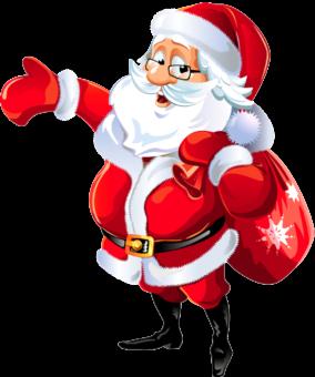 Санта клаус с мешком