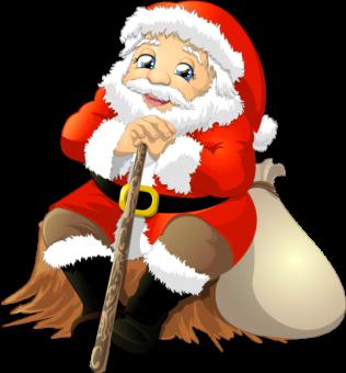 Санта клаус ждет рождество