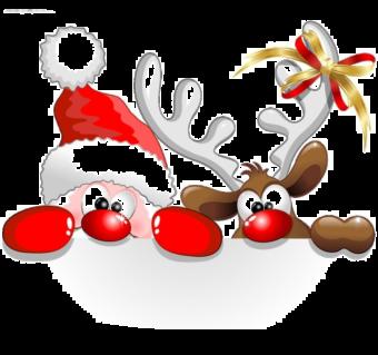 Смешной Санта Клаус
