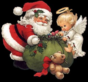 Санта Клаус готовит подарки