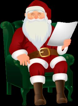 Санта читает письмо