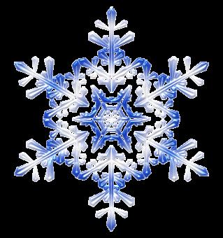Блестящая снежинка