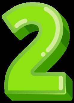 зеленая цифра 2