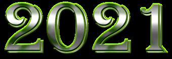 цифры 2021 металлические
