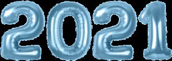 2021 из воздушных шариков