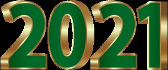 зеленый золотой 2021 надпись