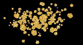 золотые снежинки и звездочки