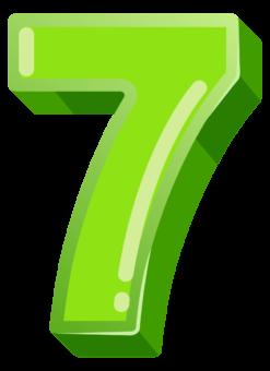 зеленая цифра 7