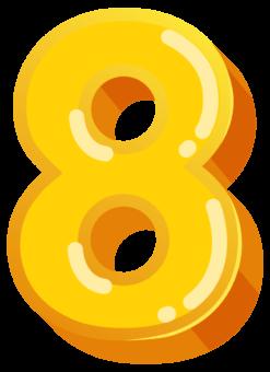 Желтая цифра 8