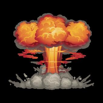 атомный взрыв рисунок мульт