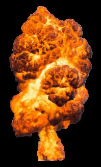 огненный гриб от взрыва
