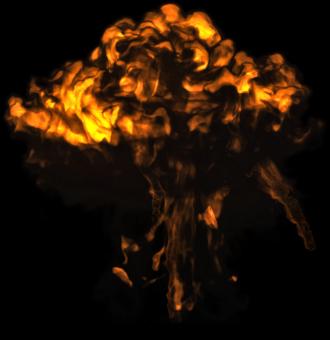 пламенный гриб взрыва