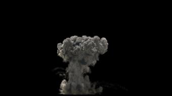 черный дым взрыв