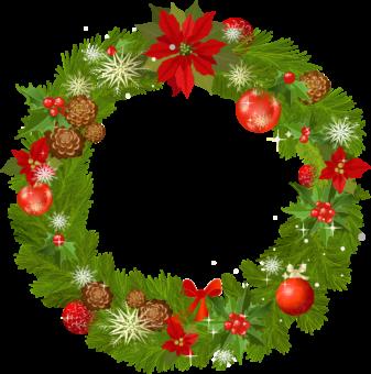 Клипарт венок рождественский