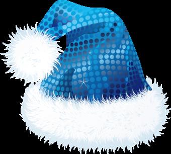 колпак новогодний синий