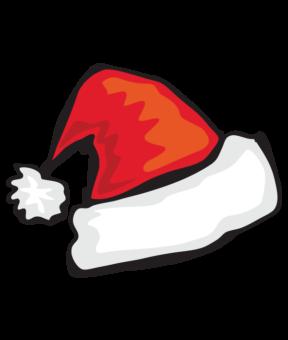 Рождественская шапка рисунок