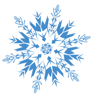 Красивая снежинка силуэт
