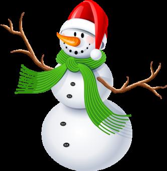 Снеговик в колпаке