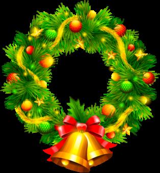 Венок украшение на Рождество