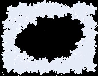 Рамка из снежинок
