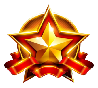 золотая звезда объемная