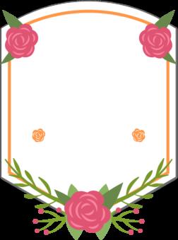 Рамка для текста с цветами
