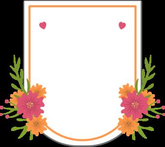 Шильдик цветочная рамка