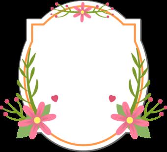 Этикетка с цветами для текста шильдик