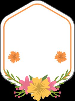 Этикетка цветочная шаблон для текста