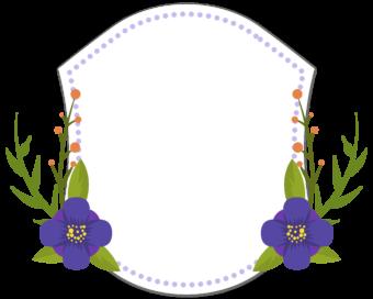 цветочная рамка наклейка