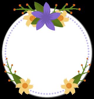 Круглая цветочная рамка для текста