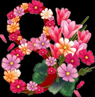 цветы к 8 марта клипарт