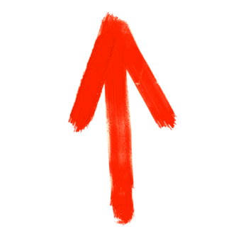 стрелка красная краска