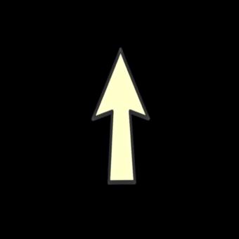 стрелка светлая вверх