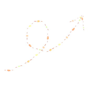 стрелка гирлянда